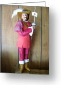 Woodworking Art Greeting Cards - Cyrano Debergeac Greeting Card by Michael Pasko
