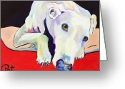 Brown Eyes Greeting Cards - Cyrus Greeting Card by Pat Saunders-White            