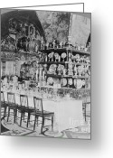 Russian Revolution Greeting Cards - Czars Dining Hall In The Kremlin, 1919 Greeting Card by Photo Researchers