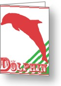 Sea Life Digital Art Greeting Cards - D is for Dolphin Greeting Card by Arlissa Vaughn