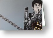 Paul Mccartney Greeting Cards - D-Note Greeting Card by Eric Dee