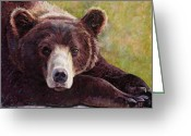 Grizzly Bears Greeting Cards - Da Bear Greeting Card by Billie Colson