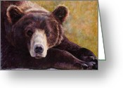 Friendly Pastels Greeting Cards - Da Bear Greeting Card by Billie J Colson