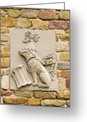 Vinci Greeting Cards - Da Vinci Coat-of-arms, Leonardo Museum Greeting Card by Sheila Terry