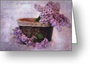 Kathy Jennings Greeting Cards - Daddys Lilacs Series V Greeting Card by Kathy Jennings