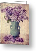  Flowers Photographs Greeting Cards - Daddys Lilacs Series VI Greeting Card by Kathy Jennings