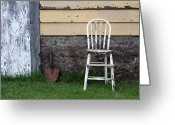 Shed Greeting Cards - Dads High Chair Greeting Card by Lauri Novak