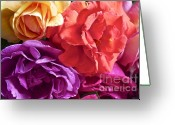 Colorful Roses Greeting Cards - Dads Roses Greeting Card by Gwyn Newcombe
