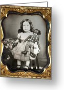 Daguerreotype Greeting Cards - DAGUERREOTYPE: GIRL, c1852 Greeting Card by Granger