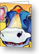 Acrylic Print Greeting Cards - Dairy Queen I   Greeting Card by Pat Saunders-White