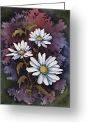 Daisies Greeting Cards - Daisies III Greeting Card by Sam Sidders