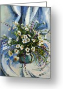 Fabulous Greeting Cards - Daisies Greeting Card by Tigran Ghulyan