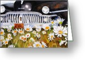 "\\\""texas Artist\\\\\\\"" Greeting Cards - Daisy DeSoto Greeting Card by Suzy Pal Powell"