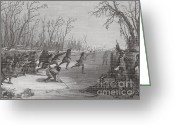 Stickball Greeting Cards - Dakota Sioux Playing Ball Game Greeting Card by Photo Researchers