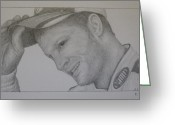 Dale Earnhardt Jr Drawings Greeting Cards - Dale Earnhardt Jr. Greeting Card by Rick Yanke