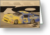 Dale Earnhardt Jr Greeting Cards - Dale Jr in the 3 Greeting Card by James Lopez