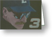 Dale Earnhardt Jr Drawings Greeting Cards - Dale Greeting Card by Leo Strawn Jr