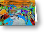 Surrealist Digital Art Greeting Cards - Dali Land Greeting Card by David Lee Thompson