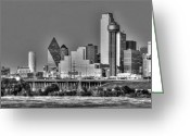 Gotham City Greeting Cards - Dallas the new Gotham City  Greeting Card by Jonathan Davison