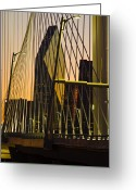 Signature Photo Greeting Cards - Dallas Through Bridge Greeting Card by David Clanton