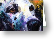 Dog Prints Greeting Cards - Dalmatian Dog Painting Greeting Card by Svetlana Novikova
