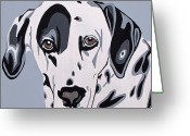 Contemporary Dog Portraits Greeting Cards - Dalmatian Greeting Card by Slade Roberts