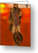 Cowboy Pastels Greeting Cards - Damage Done Greeting Card by AJ Williamson