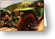 Vehicles Digital Art Greeting Cards - Damsel In Distress - 7D17504 Greeting Card by Wingsdomain Art and Photography
