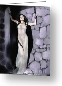 Damsel In Distress Digital Art Greeting Cards - Damsel In Distress Greeting Card by Nadja Pilitsyna