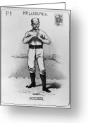 Philadelphia Phillies Photo Greeting Cards - Dan Casey (1862-1943) Greeting Card by Granger