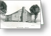 National Drawings Greeting Cards - Dan Lawson Cabin Greeting Card by Mark Froehlich