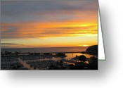 Dana Point Greeting Cards - Dana Headlands Greeting Card by Linda Marshutz