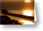 Inside You Greeting Cards - Dana Point Jetty Greeting Card by Jean Marshall