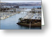 Sea Wall Greeting Cards - Dana Point Yacht Club Greeting Card by Viktor Savchenko