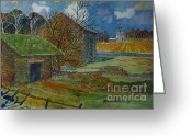 Foundations Greeting Cards - Danby Farm Greeting Card by Donald McGibbon