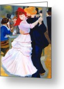 Bougival Greeting Cards - Dance At Bougival after Renoir Greeting Card by Rodney Campbell