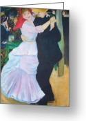 Bougival Greeting Cards - Dance at bougival  Greeting Card by Eric  Schiabor