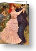 Reproductions Greeting Cards - Dance at Bougival  Greeting Card by Extrospection Art