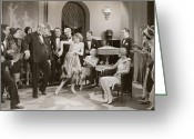 Roaring Twenties Greeting Cards - DANCE: CHARLESTON, 1920s Greeting Card by Granger