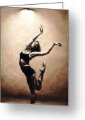 Pointe Greeting Cards - Dance Eclecticism Greeting Card by Richard Young