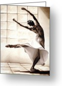 Studio Painting Greeting Cards - Dance Finesse Greeting Card by Richard Young