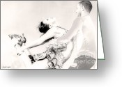 Artography Greeting Cards - Dance Greeting Card by Jayne Logan