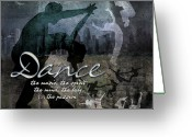 Women Greeting Cards - Dance neutral colors Greeting Card by Evie Cook