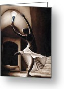 Hall Painting Greeting Cards - Dance Seclusion Greeting Card by Richard Young