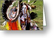 Black Elk Greeting Cards - Dancer 174 Greeting Card by Chris Brewington