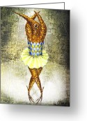 Infantile Greeting Cards - Dancer 2  Greeting Card by Lolita Bronzini
