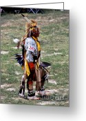 Black Elk Greeting Cards - Dancer 247 Greeting Card by Chris Brewington