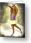 Infantile Greeting Cards - Dancer 3 Greeting Card by Lolita Bronzini