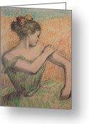 Stretch Pastels Greeting Cards - Dancer Greeting Card by Degas