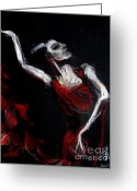 Expression Pastels Greeting Cards - Dancer Greeting Card by EMONA Art